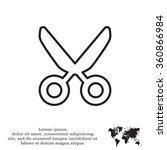 vector scissors line icon   Shutterstock .eps vector #360866984