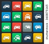 car icons set.  | Shutterstock .eps vector #360875165