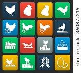 chicken icons set. | Shutterstock .eps vector #360875219