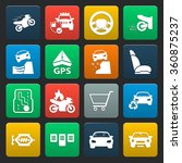 car icons set.  | Shutterstock .eps vector #360875237