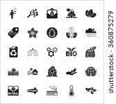 ecology icons set.  | Shutterstock .eps vector #360875279