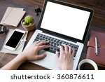 a man is working by using a... | Shutterstock . vector #360876611