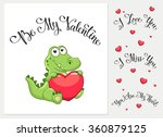 Cartoon Crocodile With Heart. ...