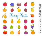 funny fruits | Shutterstock .eps vector #360879947