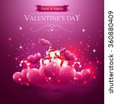 valentines day card with hearts ... | Shutterstock .eps vector #360880409