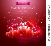 valentines day card with hearts ... | Shutterstock .eps vector #360880427
