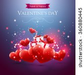 valentines day card with hearts ... | Shutterstock .eps vector #360880445