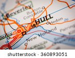 map photography  hull city on a ... | Shutterstock . vector #360893051