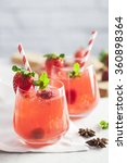 strawberry iced drink in a... | Shutterstock . vector #360898364