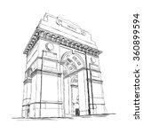 india gate vector sketch... | Shutterstock .eps vector #360899594