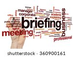 briefing word cloud | Shutterstock . vector #360900161