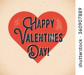 retro valentines day card with... | Shutterstock .eps vector #360907889