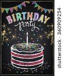 invitation to the birthday... | Shutterstock .eps vector #360909254