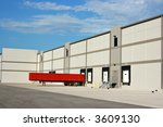the loading dock at a large... | Shutterstock . vector #3609130