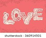 greeting card in zentangle... | Shutterstock .eps vector #360914501