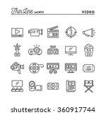 film  video  shooting  editing... | Shutterstock .eps vector #360917744