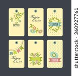 set of six vector decorative... | Shutterstock .eps vector #360927761