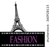 fashion with paris  in the... | Shutterstock .eps vector #360928115