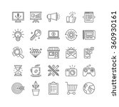 vector set of 25 icons and...