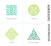 vector set of organic and... | Shutterstock .eps vector #360930809