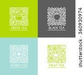 vector set of logo design... | Shutterstock .eps vector #360930974
