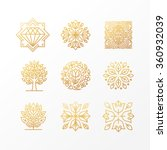 vector set of abstract golden... | Shutterstock .eps vector #360932039