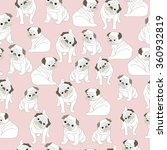 pud dog pattern seamless... | Shutterstock .eps vector #360932819