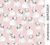 pud dog pattern seamless... | Shutterstock .eps vector #360932819