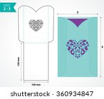 pocket envelope template with... | Shutterstock .eps vector #360934847