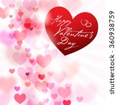 romantic background with hearts ... | Shutterstock .eps vector #360938759