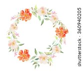 vector flowers background.... | Shutterstock .eps vector #360940205