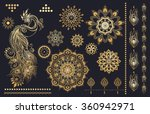 mandala set and other elements. ... | Shutterstock .eps vector #360942971