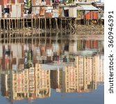 views of the city's slums from... | Shutterstock . vector #360946391