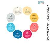 circular infographics. flat pie ... | Shutterstock .eps vector #360949625