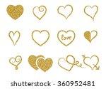 set of decorative gold glitter... | Shutterstock .eps vector #360952481