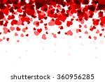 romantic white background with... | Shutterstock .eps vector #360956285