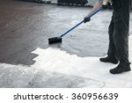 roofer worker painting   the...   Shutterstock . vector #360956639