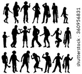 vector silhouettes of different ... | Shutterstock .eps vector #360956831
