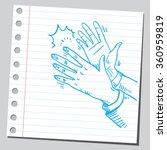 hands applauding | Shutterstock .eps vector #360959819