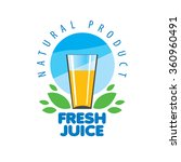 vector icon fresh juice from... | Shutterstock .eps vector #360960491