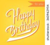 modern calligraphy brush script ... | Shutterstock .eps vector #360962954