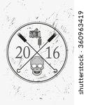 tattoo logo grunge style | Shutterstock .eps vector #360963419