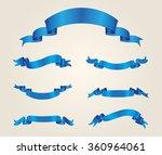 ribbon set.ribbon banner vector ... | Shutterstock .eps vector #360964061