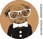 fashion hand drawn vector... | Shutterstock .eps vector #360965819