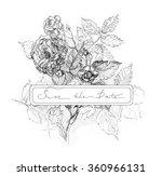 vintage elegant wedding... | Shutterstock .eps vector #360966131