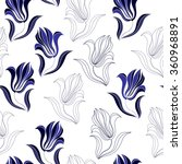 seamless pattern with blue... | Shutterstock .eps vector #360968891