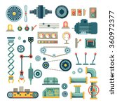parts of machinery and robot... | Shutterstock .eps vector #360972377