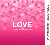 falling pink hearts on... | Shutterstock .eps vector #360975239