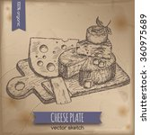 vintage cheese plate template...   Shutterstock .eps vector #360975689