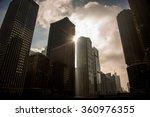 chicago skyline at sunset    Shutterstock . vector #360976355